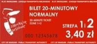 bilet 20 minutowy normalny