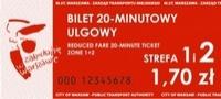 bilet 20 minutowy ulgowy