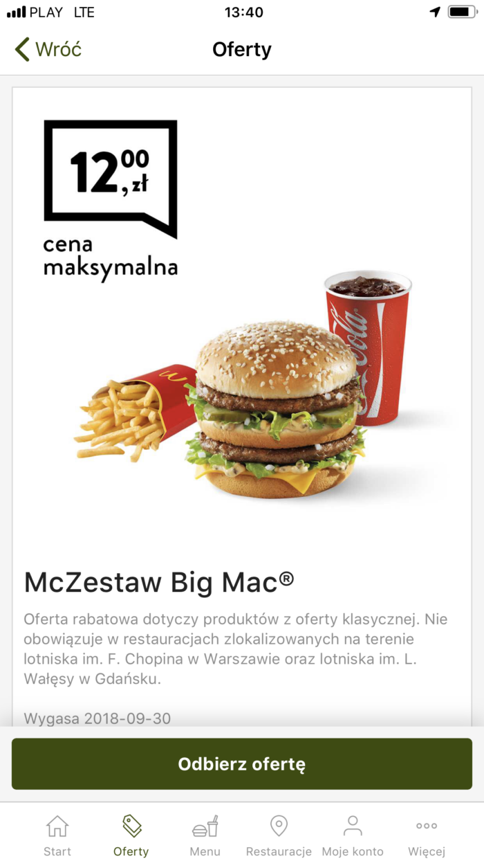mcDonalds купоны в варшаве лешего поесть в польше 1