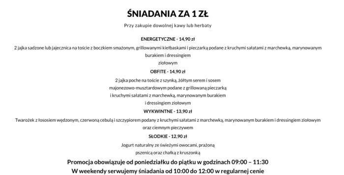menu 1 - restauracja słoik