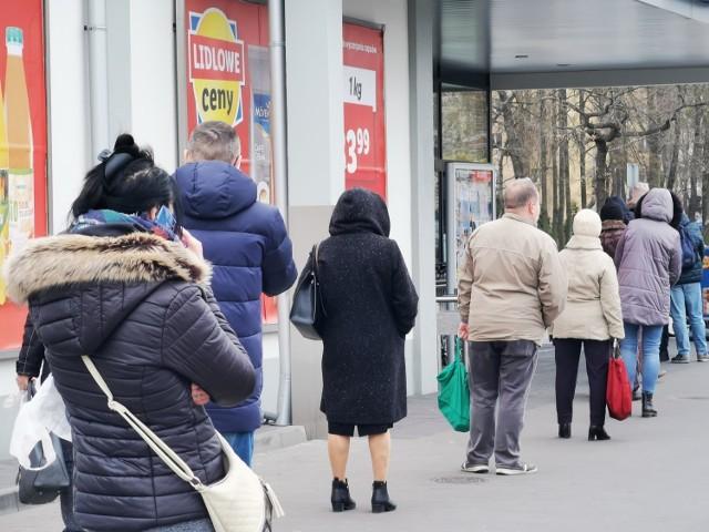 Очереди в продуктовые магазины коронавирус в Польше